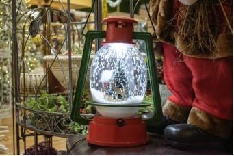 Λάμπα Χριστουγεννιάτικη Πράσινη-Κόκκινη με Χιόνι 50cm CD0043