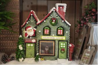 Χριστουγεννιάτικο Σπιτάκι Mountain Lodge 65x70x32cm CD19-6957