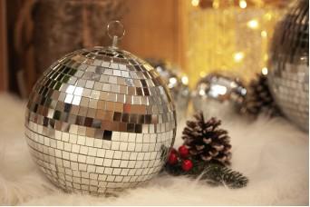 Μπάλα με Aσημένιο Καθρέφτη 20cm CD19-1121-20