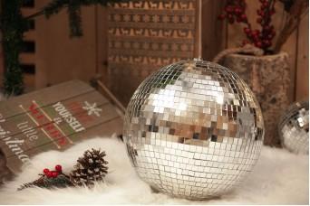 Μπάλα με Aσημένιο Καθρέφτη 30cm CD19-1121-30