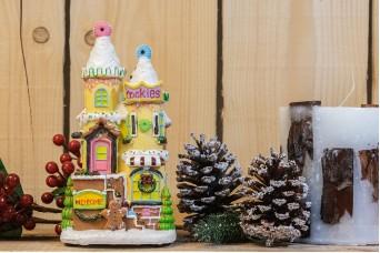 Ζαχαρένιο Σπίτι Cookies με Φωτάκια CD19-4588-2