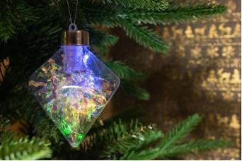 Χριστουγεννιάτικη Μπάλα Ρόμβος LED 8x10cm CD19-7256