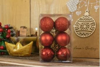 Χριστουγεννιάτικες Μπάλες 4cm Κόκκινο 12τμχ CD4-1333-1