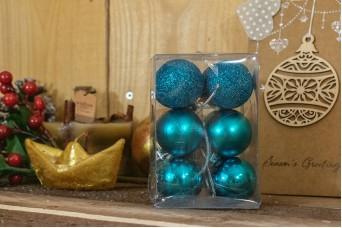 Χριστουγεννιάτικες Μπάλες 4cm Τιρκουάζ 12τμχ CD4-1333-4