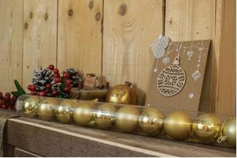 Χριστουγεννιάτικες Μπάλες 5cm Χρυσό 12τμχ CD5-1330-1