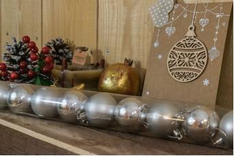 Χριστουγεννιάτικες Μπάλες 5cm Ασημένιο 12τμχ CD5-1330-2