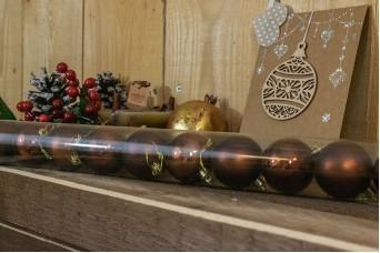 Χριστουγεννιάτικες Μπάλες 5cm Καφέ 12τμχ CD5-1330-3