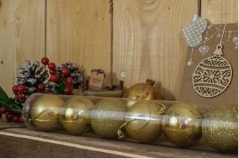 Χριστουγεννιάτικες Μπάλες 6cm Χρυσό 8τμχ CD6-1329-1