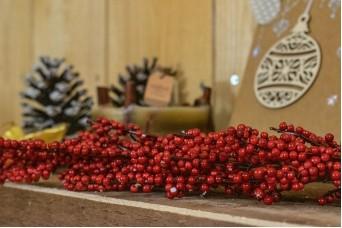 Κλαδί Παγωμένα Κόκκινα Μίνι Γκι 68cm CD19-5677