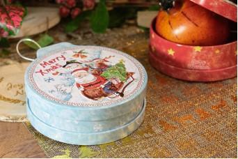 Μεταλλικό Χριστουγεννιάτικο Κουτί CD19-7319-2