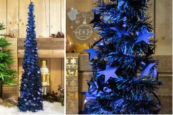 Δέντρο Tinsel Αστεράκια 150cm Μπλε CD-6701-1
