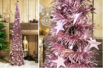 Δέντρο Tinsel Αστεράκια 150cm Ροζ CD-6701-2