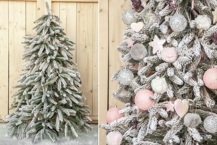 Χιονισμένο Δέντρο Slim 150cm CD19-4618-150