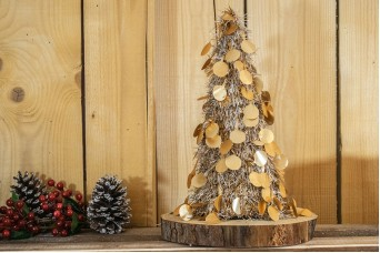 Δέντρο Tinsel Κυκλάκια 48cm Χρυσό CD38-6655-4