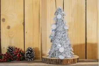 Δέντρο Tinsel Κυκλάκια 48cm Ασημένιο CD38-6655-5