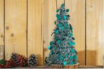 Δέντρο Tinsel Κυκλάκια 48cm Πετρόλ CD48-6655-1