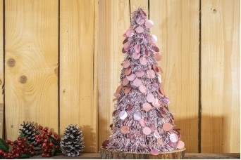 Δέντρο Tinsel Κυκλάκια 48cm Ροζ CD48-6655-2