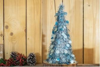 Δέντρο Tinsel Κυκλάκια 48cm Arctic Blue CD48-6655-3