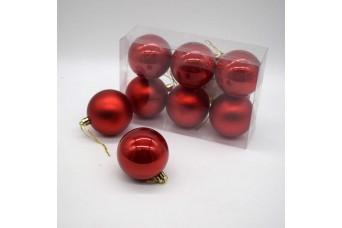 6τεμ Χριστουγεννιάτικες Μπάλες 6cm Christmas Red CD21-0606-04