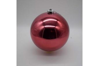 15cm Χριστουγεννιάτικη Μπάλα Velvet Pink CD21-1501-32
