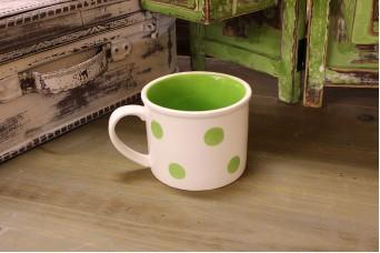 Κούπα Κεραμική Πουά Πράσινη