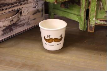 Κούπα Κεραμική Μουστάκι Καφέ