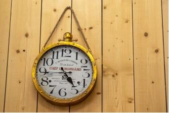 Ρολόι Τοίχου Χρυσό Παλαιωμένο 40,5cm CL4946