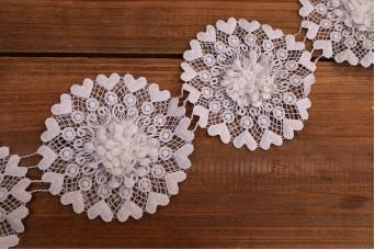 Τρέσσα Κύκλοι Floral με Καρδιές 5yd LC604