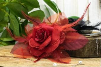 Τριαντάφυλλο με Φτερά 14cm Κόκκινο FI-8221-2
