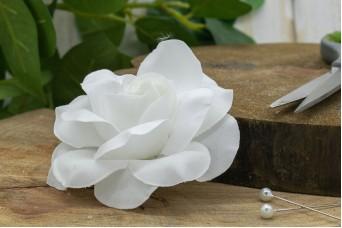 Τριαντάφυλλο Κολλαρισμένο 9.5cm Λευκό FI-8562