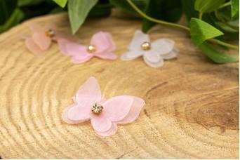 Πεταλούδες Strass Ροζ 10τμχ FI-8818-2