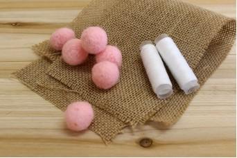 Μπάλες από Μαλλί Felt 2cm Ροζ FI0289P