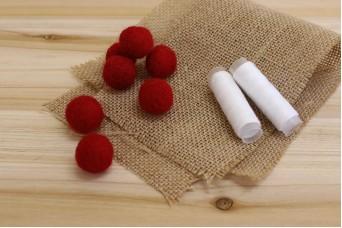 Μπάλες από Μαλλί Felt 2cm Κόκκινες FI0289R