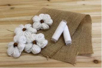 Μαργαρίτες Μάλλινες 6,5cm Λευκές FI8877W