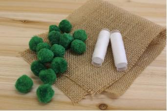 Χνουδωτά Pom Poms 2,5cm Πράσινα FI8937G