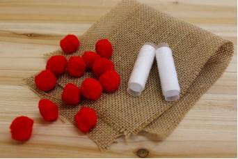 Χνουδωτά Pom Poms 2,5cm Κόκκινα FI8937R