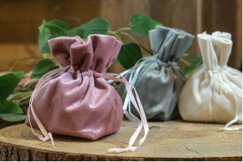 Βελούδινο Σουρωτό Πουγκί Σάπιο Μήλο FIV-3976-1