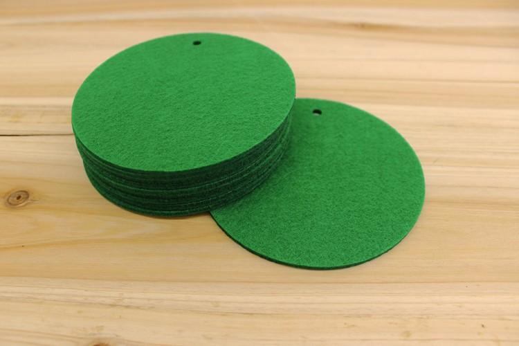 Στρογγυλά Φύλλα Τσόχας 11,5cm Πράσινα FL0087GR