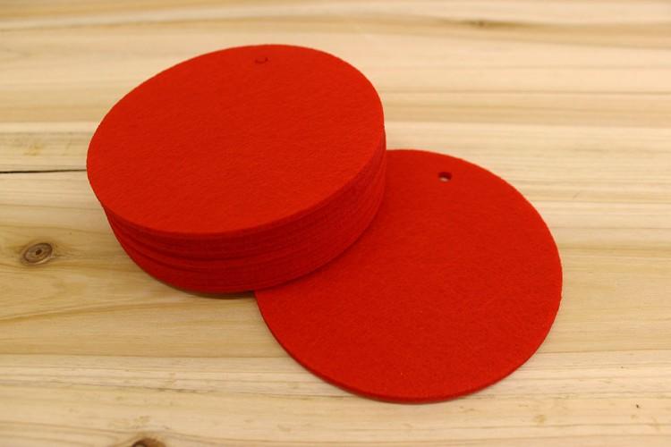 Στρογγυλά Φύλλα Τσόχας 11,5cm Κόκκινα FL0087R