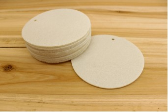 Στρογγυλά Φύλλα Τσόχας 11,5cm Λευκά FL0087W