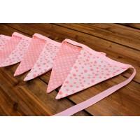 Σημαιάκια Αστέρια Ροζ/Μεγάλο Πουά Ροζ FLG-113386