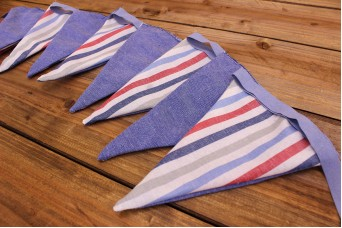 Σημαιάκια Καλοκαιρινό Μπλε/Ριγέ Μπλε-Κόκκινο FLG-593604