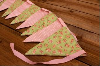 Σημαιάκια Floral Ρομαντικό Πράσινο/Τζην Πουά Ροζ FLG-91GR101