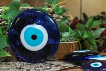 Μάτι Γυάλινο Μπλε 12cm GI-4852-120