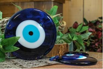 Μάτι Γυάλινο Μπλε 15cm GI-4852-150