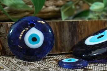 Μάτι Γυάλινο Μπλε 5cm GI-4852-50