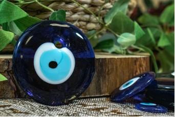 Μάτι Γυάλινο Μπλε 8cm GI-4852-80