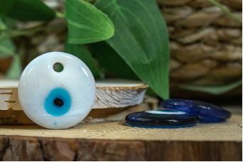 Μάτι Γυάλινο Λευκό 3cm GI-4856-3