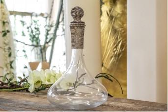 Καράφα Κρασιού Ασημένιο Κρύσταλλο 30cm GI09104S