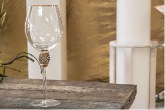 Ποτήρι Κρασιού Χρυσό Κρύσταλλο 25cm GI09108G
